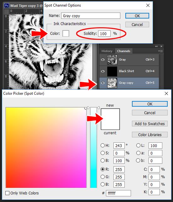 change spot color channel photoshop